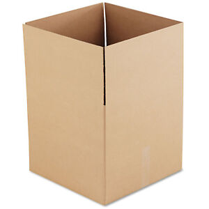 General Supply Brown Corrugated Fixed depth Shipping Boxes 18l X 18w X 16h 15