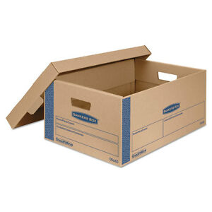 Bankers Box Smoothmove Prime Large Moving Boxes Lift Lid 24l X 15w X 10h Kraft