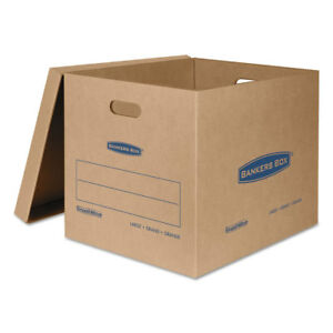 Bankers Box Smoothmove Classic Large Moving Boxes 21l X 17w X 17h Kraft blue 5