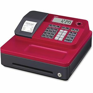 Casio Inc Thermal Cash Register 12 4 5 x13 1 2 x6 1 2 Red Seg1scrd