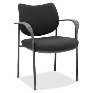 Lorell Guest Chair W casters Glides 24 5 8 x23 7 8 x33 5 8 Bk 60510
