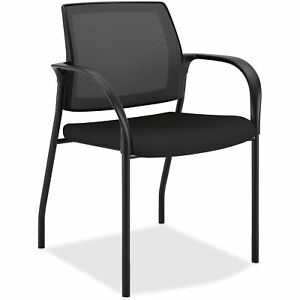 Hon Stacking Chair W glides 25 x21 3 4 x33 1 2 Cu Bk Seat Is108imcu10