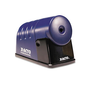 X acto Powerhouse Desktop Electric Pencil Sharpener Translucent Blue 1792lmr