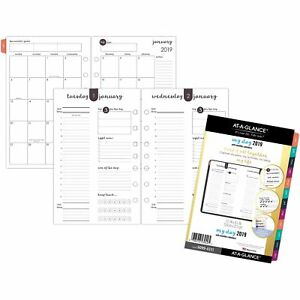 At a glance Planner Refill F harmony Daily Jan dec 5 1 2 x8 1 2 60994311