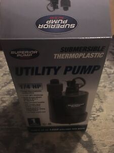 Superior Pump 1 4 Hp Thermoplastic Submersible Utility Pump
