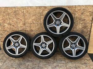 Mercedes W204 C63 Amg Sport Factory 18 Wheels Wheel Rim Tire Set Oem