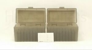 BERRY'S PLASTIC AMMO BOXES (2) SMOKE 50 Round 270  30-06  More- FREE SHIPPING