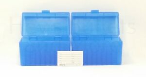 BERRY'S PLASTIC AMMO BOXES (2) BLUE 50 Round 270  30-06  More- FREE SHIPPING