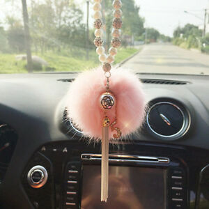 Acrylic Pearl Car Rear View Mirror Pendant Decor Hanging Ornament Accessories