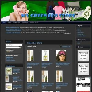 Green Eco Store Complete Premium Website For Sale Amazon adsense dropship