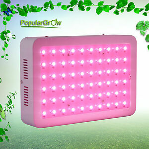 Populargrow Updated 300w Led Grow Light Full Spectrum Commercail Veg Plant Lamp