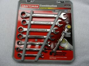 Craftsman Mm Combination Ratcheting Wrench Set Made In Usa 8 Pcs Part 42445