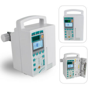 Infusion Pump Iv Fluid Device Voice Alarm Patient Lcd Monitor Kvo Purge Medical