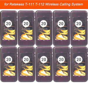 10pcs T113s Wireless Calling Coaster Pager For Restaurant Queuing System Us Ship