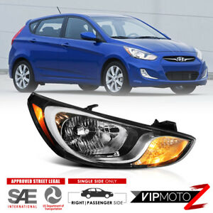 passenger Side For 2012 2014 Hyundai Accent Right Headlamps Lights Replacement