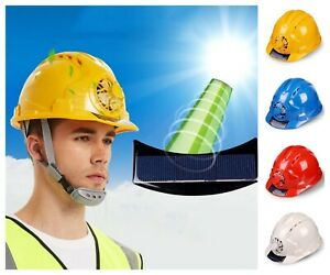 Working Safety Hard Helmet Solar Power Fan Outdoor Construction Hat Accessories