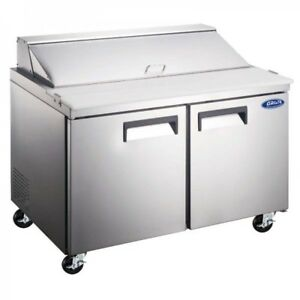 60 Commercial Salad Sandwich Prep Table Cooler Brand New Stainless Steel