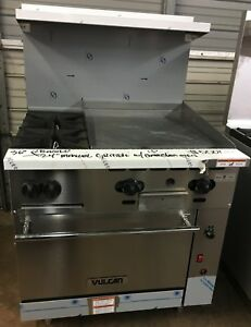 Vulcan 36 Lp Gas Restaurant Range W 2 Burner 24 Griddle Convection Oven