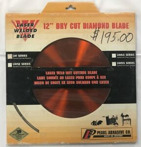 Pearl Abrasive Co Laser Welded Dry Cut Diamond Saw Blade Lw012