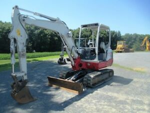 2013 Takeuchi Tb235 Hydraulic Excavator Only 336 Hours On Meter Front Blade