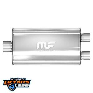Magnaflow 12594 4 In 3 Out Oval Straight Through Performance Muffler Universal