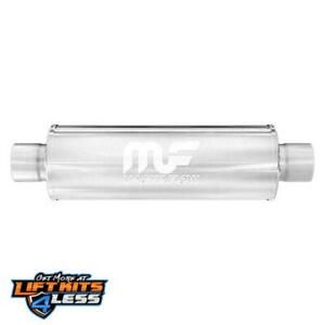 Magnaflow 12866 2 5 In out Round Straight Through Performance Muffler Universal
