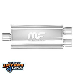 Magnaflow 14221 3 Inlet 2 5 Outlet Oval Straight Through Performance Muffler