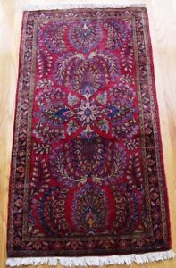 2 3 X 4 2 Quality Antique Mohajiran Sarouk Hand Made 100 Wool Oriental Rug
