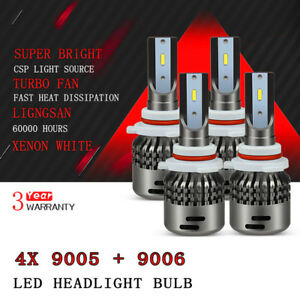 For Gmc Sierra 1500 2500 3500 Hd 2001 2006 9006 9005 Led Headlight Bulb Kit D7