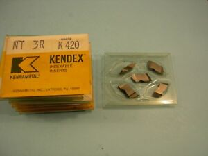Qty Of 5 New Nt 3r K420 Kennametal Carbide Threading Inserts