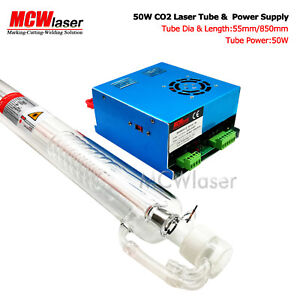 Mcwlaser 50w Co2 Laser Tube 85cm Myjg Power Supply Air Express Insurance