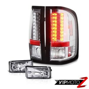 Diamond Chrome Led Tail Light Oe Style Clear Fog Lamp 2007 2013 Silverado 1500