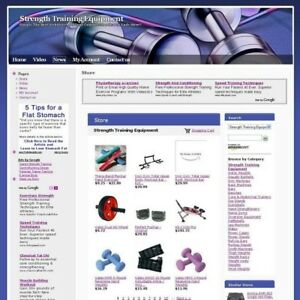 Strength Training Equipment Affiliate Business Website For Sale Work At Home