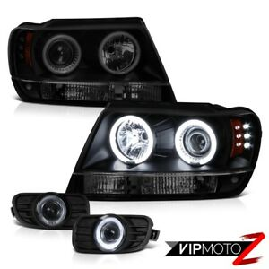 99 03 Jeep Grand Cherokee Offroad 4x4 Ccfl Halo Headlights Signal Led Tail Lamps