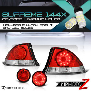 super Bright Led Reverse For 2001 2005 Lexus Is300 Red Rear Brake Tail Lights