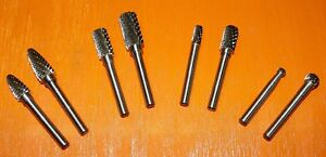 Carbide Burr Set Double Cut Metal Grinding And Shaping Tools Die Grinder