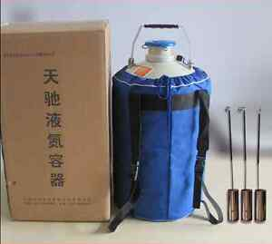 6l Liquid Nitrogen Storage Tank Static Cryogenic Container With Straps