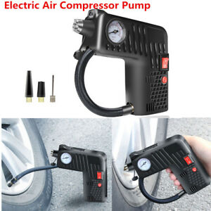 12v Car Motorcycle Bike Tire Electric Air Compressor Hand Tool Fast Inflation