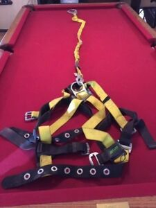 Miller Full Body Safety Harness With Lanyard 6 Ft 219wrs 6fty Capacity 310 Lbs