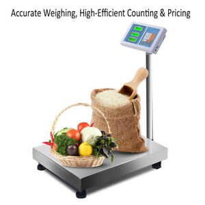 Floor Platform Weight Scales Digital Postal Shipping Mailing Commercial 660 Lbs