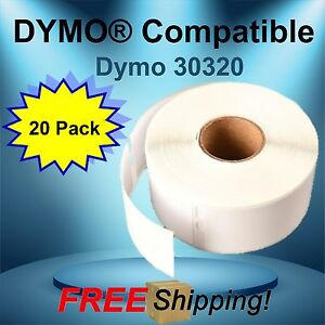 Waterproof 260 Labels Per Roll El60 Dymo Compatible 30320 Name Badges 20 Rolls