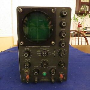 Heathkit Laboratory Oscilloscope Model 10 30 Good Cond Needs New Cord See Pics