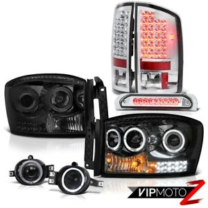 07 08 Dodge Ram 1500 St Smokey Headlamps Fog Lights Roof Brake Light Taillights