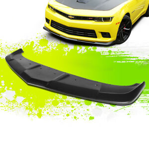 For 14 15 Chevy Camaro Ss Z28 1le Style Front Bumper Chin Lip Lower Spoiler Wing