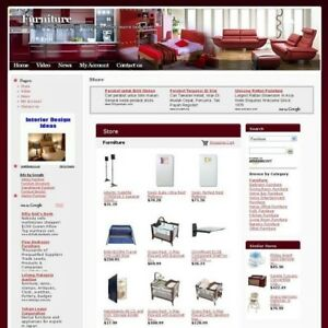 Established Furniture Online Affiliate Business Website For Sale Free Domain