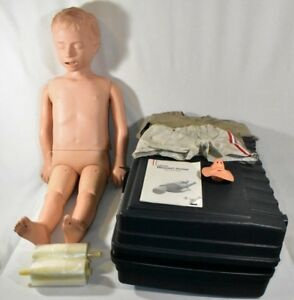 Laerdal Resusci Junior Cpr Training First Aid Simulator Manikin Extras