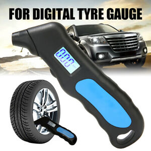 1set Tire Pressure Guage Digital Car Truck Bike Auto Lcd Meter Tester Tyre Gauge