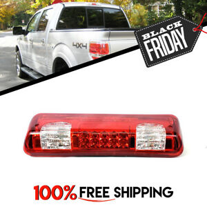 3rd Stop Light Cargo Lamp Led Red Clear For Ford F 150 F150 Fit 2004 To 2008