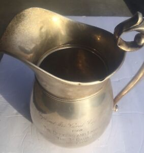 1940 3d Cavalry Presentation Sterling Silver Water Pitcher Manchester Silver Co