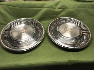 68 69 Cadillac Fleetwood Hubcaps 2 15 2004 Oe Gm Coupe Deville 3514671